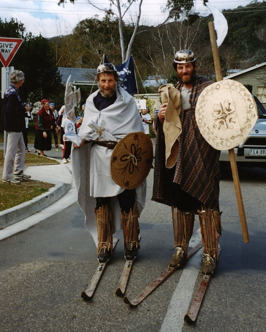 Our original Vikings – Gerry & Phil (1992 Hoppet Parade)