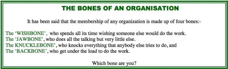 Bones of an organisation 2